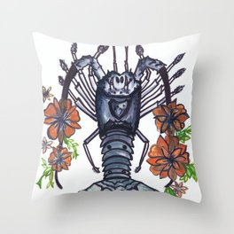 Bug Blossom Throw Pillow