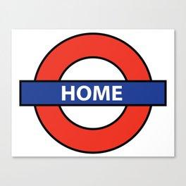 Underground Home Sign Canvas Print