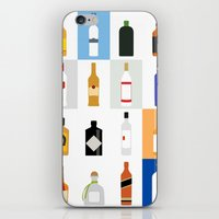 bar iPhone & iPod Skins featuring Open Bar by Liz Slome