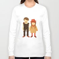 thanksgiving Long Sleeve T-shirts featuring Thanksgiving Happiness by Elena Kouvaros