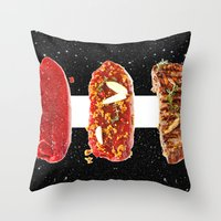 meat Throw Pillows featuring Meat by Danny Ivan