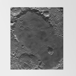The Dark Side Of The Moon (Mare Moscoviense) Throw Blanket