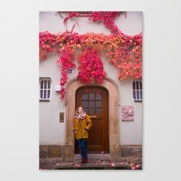 Tati matches the Autumn Canvas Print