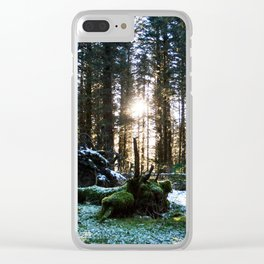 Winter Forest Photography Print Clear iPhone Case