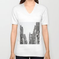 broadway V-neck T-shirts featuring Broadway - NY by Basma Gallery