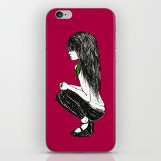 Feather Girl iPhone & iPod Skin