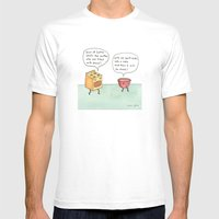 bowl of batter, what's the matter White MEDIUM Mens Fitted Tee