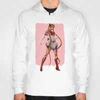 sailor moon Hoodies featuring Sailor Moon by KlsteeleArt
