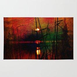 tramonto astratto Rug