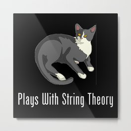 Plays With String Theory Metal Print