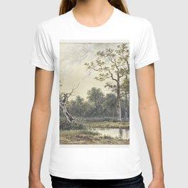 Landschap met figuren in een roeibootje by Georgius Jacobus Johannes van Os II T-shirt