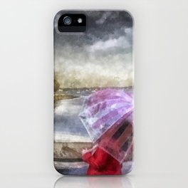 The Girl in Red Coat iPhone Case