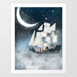 a nautical adventure (above the clouds) Art Print