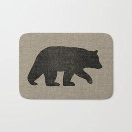 Black Bear Silhouette Bath Mat