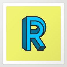 Impossible R Art Print