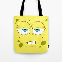 spongebob Tote Bags featuring SpongeBob by Thorin