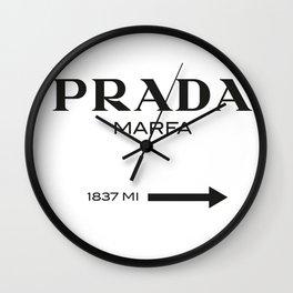 PradaMarfa sign Wall Clock