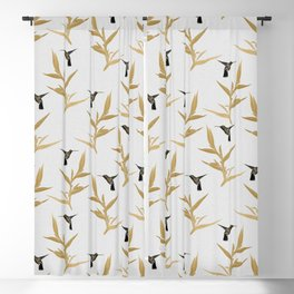 Hummingbird & Flower II Blackout Curtain