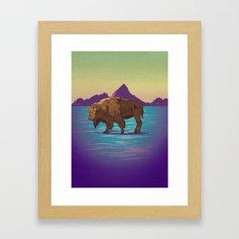 Buffalo Country Framed Art Print