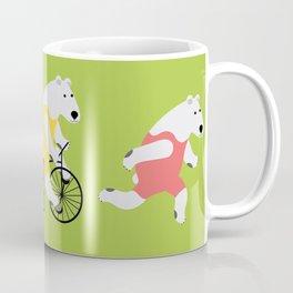 Polar Bear Triathletes Green Coffee Mug