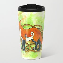 Celtic Fox Travel Mug