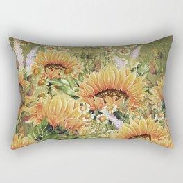 Vintage Garden 5 (Sunflower Field) Rectangular Pillow