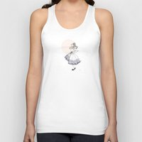 dress Tank Tops featuring Poofy Dress by fossilized