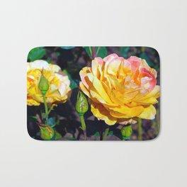 Dusted Roses Bath Mat
