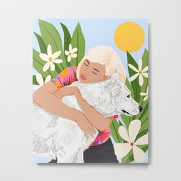 All You Need Is Love And A Dog #illustration #pets Metal Print