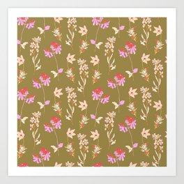 Floral greenery Art Print