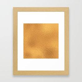 Simply Metallic in Bronze Framed Art Print