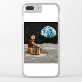 I Live Here Now Clear iPhone Case
