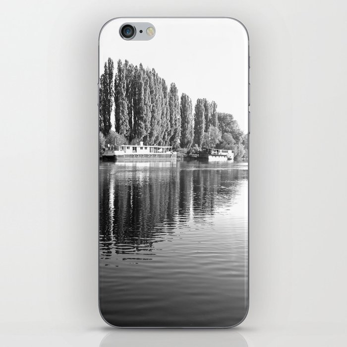 Barges on the River Oise iPhone Skin