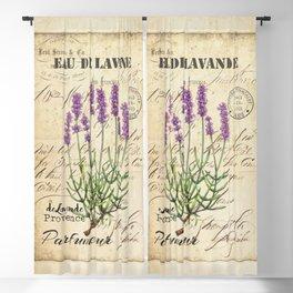 Lavender Antique Rustic Flowers Vintage Art Blackout Curtain