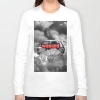gta v Long Sleeve T-shirts featuring Wasted GTA by JOlorful