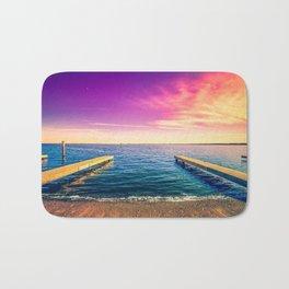 Docks in Vibrant Color Bath Mat