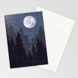Full Moon Landscape Stationery Cards