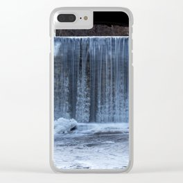 Ice Waterfall Clear iPhone Case