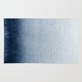 Indigo Vertical Blur Abstract Rug