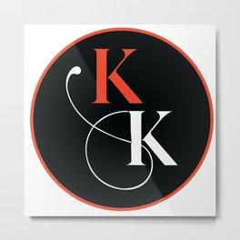 KK Circle Metal Print
