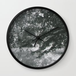 Trees Over Water Wall Clock
