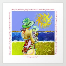 'Mary and Max' (Saw Sea Art Series) Art Print