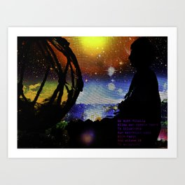 COSMIC HEART- BUDDHA  Art Print