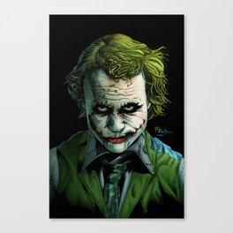 Heath Ledger Joker Canvas Print