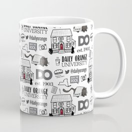 Daily Orange Pattern Coffee Mug