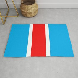 TEAM COLORS 10...RED , WHITE LIGHT BLUE Rug