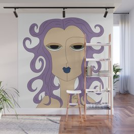Lady Lilac Wall Mural