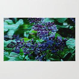 Vintage Textured Painted Lilac Rug