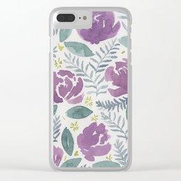 flores violetas Clear iPhone Case