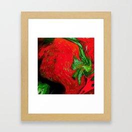 Strawberry Fruit Art Deco Framed Art Print